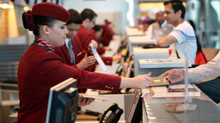 Aéroport de Doha au Qatar.
