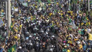 Brésil - Rio - Jair Boslonaro - Défilé moto - AP21143576273521