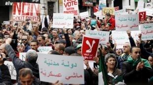 Manifestation à Alger, le 22 novembre 2019.