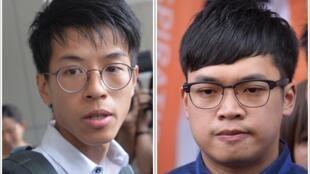香港人黄台仰(左)李东升获得德国政治庇护