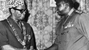 Mobutu Sese Seko et Idi Amin Dada en 1972.