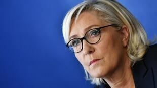 Marine Le Pen, leader of France's far-right party National Rally (RN)