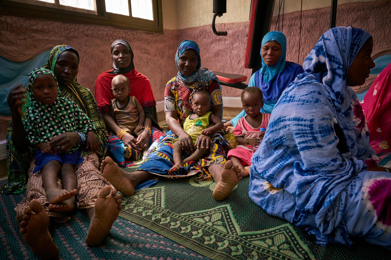 Yan gudun hijira da suka tsere daga garin Gao na kasar Mali