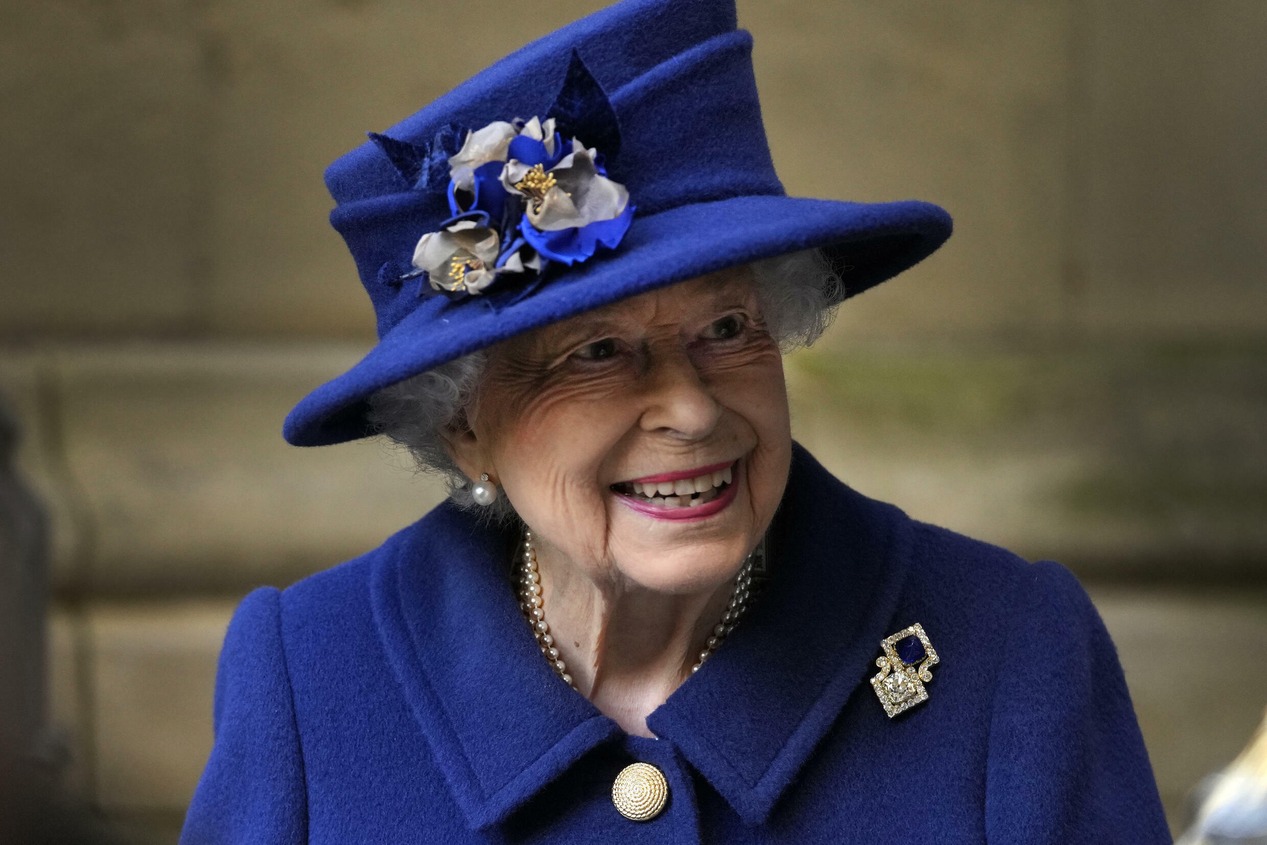 Britain's Queen Elizabeth II, pictured on October 12, 2021, was said already to be back at her desk and undertaking light duties, after spending the night in hospital