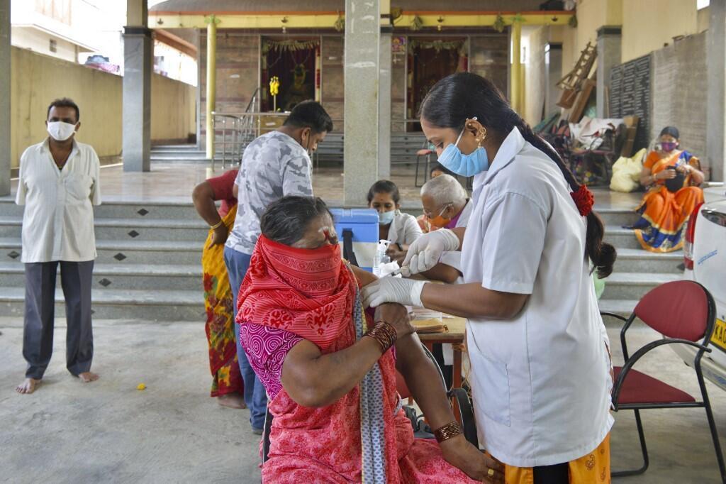 Vaccinations contre le Covid-19 à Bangalore