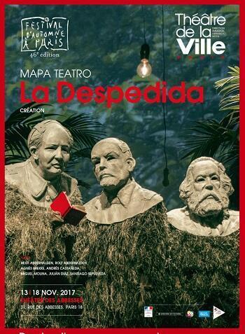 """Cartel de """"La despedida"""" en el Teatro de la Ville de París."""