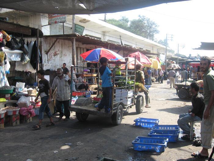 Franja de Gaza: el Mercado Central de la Ciudad de Gaza.