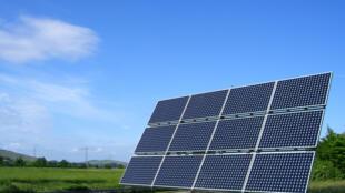Panneau photovoltaïque près de Fribourg, en Allemagne.