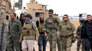 Lính Mỹ tuần tra tại khu vực Kurdistan Syria gần biên giới Thổ Nhĩ Kỳ. Ảnh ngày 04/11/2018