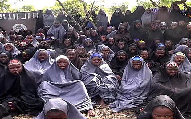 شماری از دختران دانشآموزی که توسط گروه بوکوحرام ربوده شده و به عنوان بردۀ جنسی به کار گرفته شدهاند.