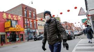 Khu phố người Hoa tại Chicago, Illinois, Mỹ, giữa lúc dịch virus corona đang lây lan khắp thế giới. Ảnh chụp ngày 30/01/2020.