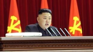 Le leader nord-coréen Kim Jong-un, le 31 mars, à Pyongyang.
