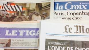 Primeiras páginas dos diários franceses de 16/02/2014