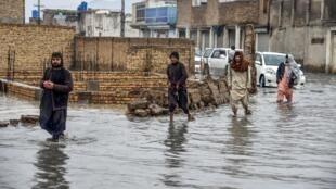 (illustration) Les crues sont fréquentes en Afghanistan, comme ici à Kandahar, le 12 janvier 2020.