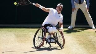 El argentino Gustavo Fernández, se coronó campeón de #Wimbledon adaptado al derrotar al actual número 1, el japonés Shingo Kunieda
