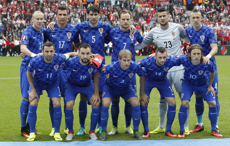 L'équipe de Croatie qui a affronté la Turquie au Parc des Princes, le 12 juin 2016.