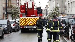 Paris firefighters.
