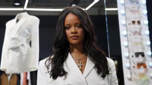 La chanteuse Rihanna le jour du lancement de la marque Fenty à Paris, le 22 mai 2019.