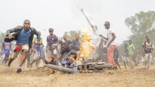 Une manifestation à Kinshasa, le 9 juillet 2020.