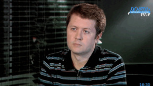 """Социолог Денис Волков в студии """"Дождя"""""""