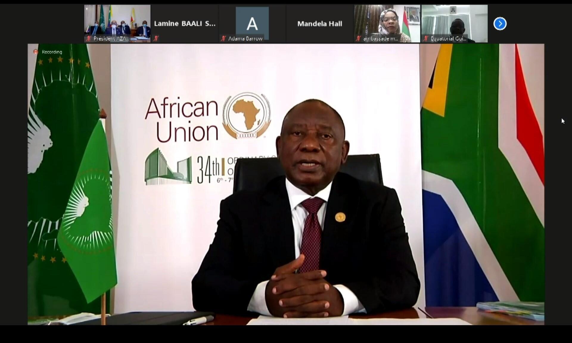 Ramaphosa sommet UA