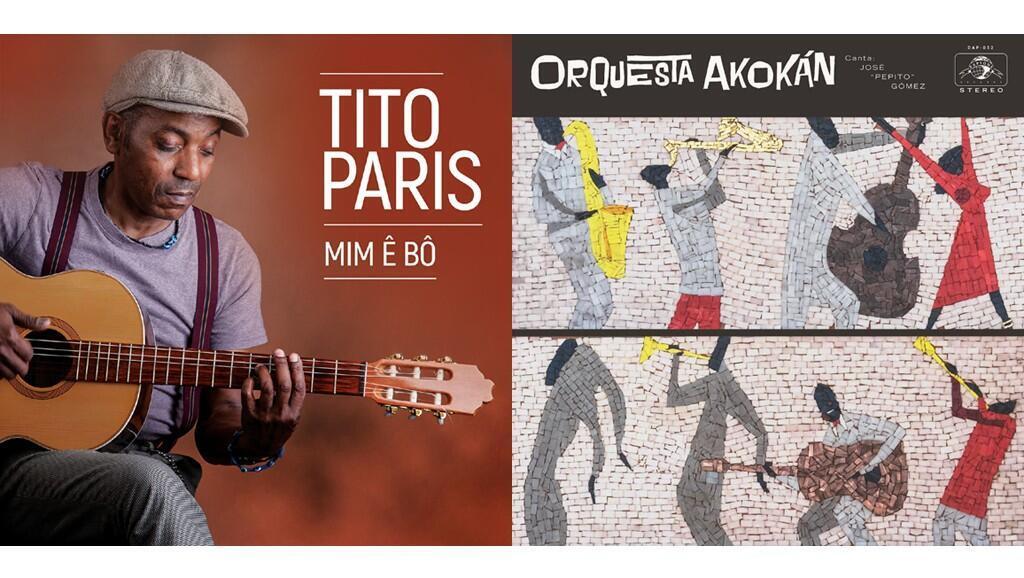 Couverture des albums de TIto Paris «Mim Ê Bô» & Orquesta Akokan «Akokan».