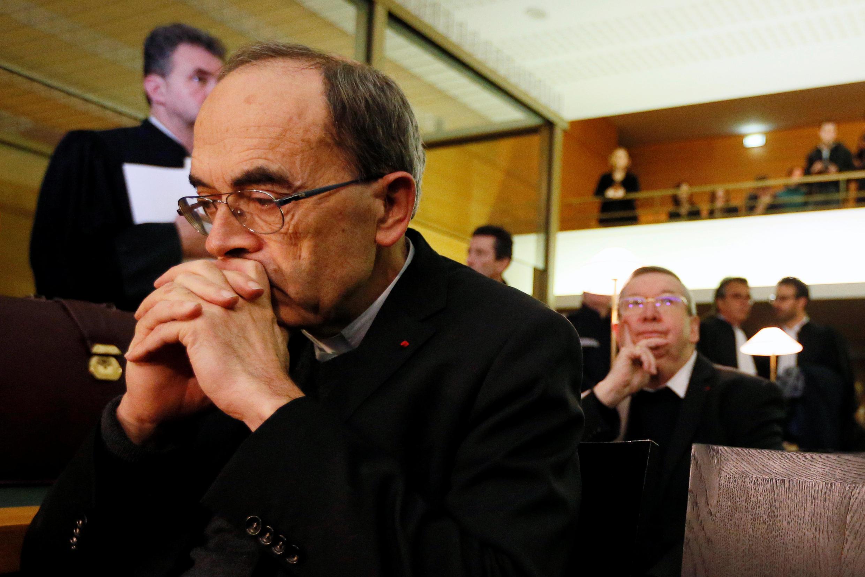 Hồng y Philippe Barbarin trong ngày đầu bị xét xử ở Lyon, ngày 07/03/2019.