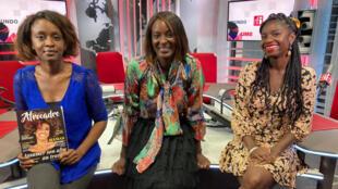 Meyia Ntolo, fondatrice du magazine Afrocadre ; Diara Ndiaye et Gloria Fataki, présidente et fondatrice de l'association Inclusive Society.