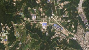 Una imagen satelital muestra la fábrica de misiles Sanumdog en Corea del Norte.