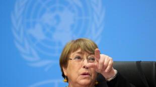 Ảnh minh họa : Cao Ủy Nhân Quyền Liên Hiệp Quốc Michelle Bachelet trong một cuộc họp báo tại trụ sở LHQ, Genève. Ảnh chụp 09/12/2020.