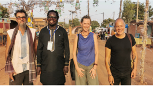 Patrick Janvier, Aristide Tarnagda, Catherine Blondeau et Victor de Oliveira, à Ouagadougou.