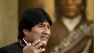 El presidente Evo Morales, en el Palacio presidencial.