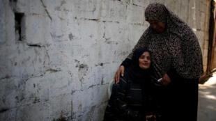 Obsèques ce dimanche matin 15 juillet d'un des deux adolescents tués lors des raids aériens israéliens sur Gaza.