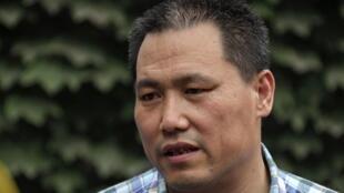 L'avocat Pu Zhiqiang à Pékin, le 20 juillet 2012.