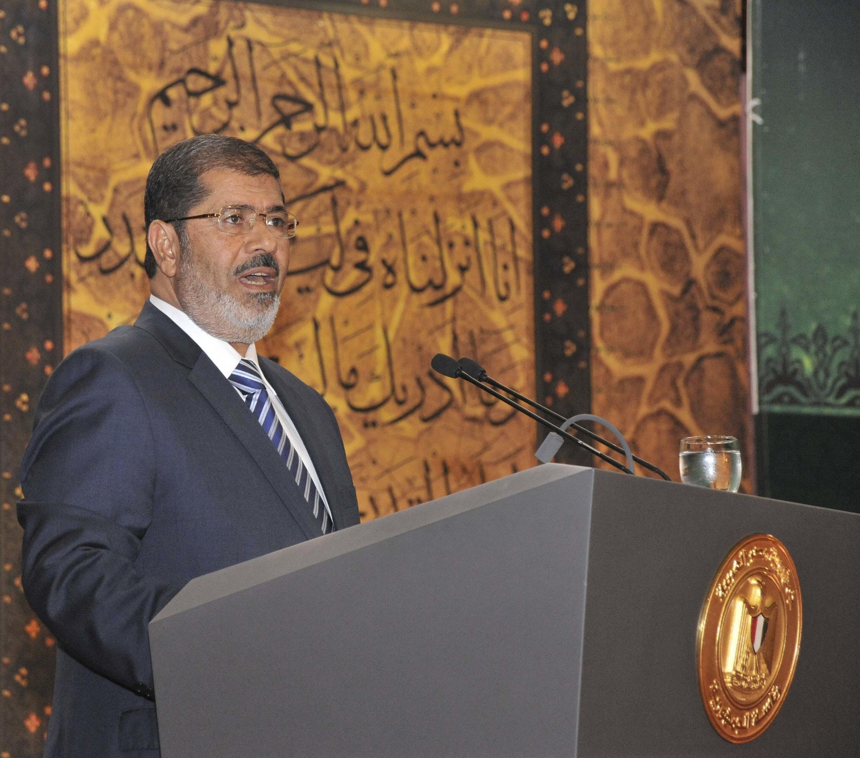 Mohamed Morsi au Caire, le 12 août 2012.
