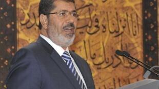 El presidente egipcio, Mohamed Mursi au Caire.