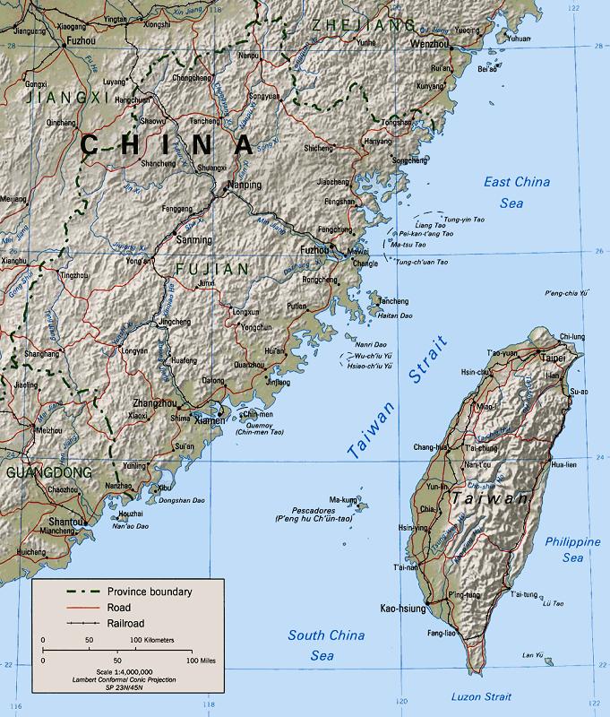 Bản đồ eo biển Đài Loan
