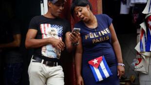 En una calle de La Habana.