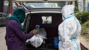 Avant l'incinération d'un défunt, mort du coronavirus, en août 2020 à New Delhi. (image d'illustration)