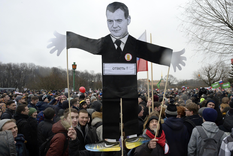Акция «Он вам не Димон» в Санкт-Петербурге