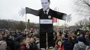 Lors de la manifestation contre la corruption, à Moscou, le 26 mars 2017, plus de 1.000 personnes avaient été interpellées.