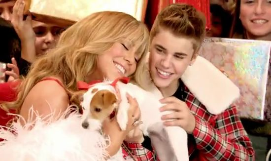 Hoàng tử nhạc pop Justin Bieber và danh ca Mariah Carey (DR)