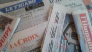 Primeiras páginas dos jornais franceses de 16 de fevereiro de 2018