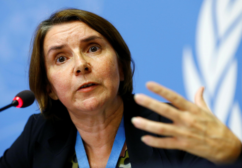 La juge Catherine Marchi-Uhel, cheffe du Mécanisme d'enquête sur la Syrie.