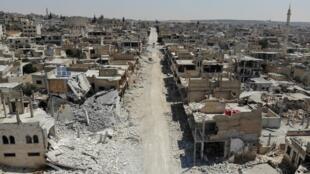 Região de Idleb, palco de violentos combates e ataques aéreos, em foto de 3 de agosto de 2019.