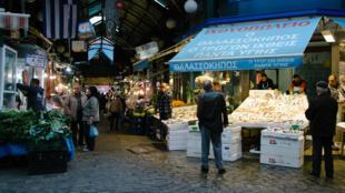 Le marché Kapani, au cœur du centre historique de Thessalonique.