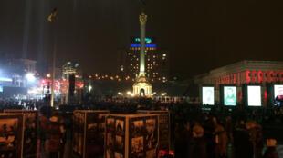En Ukraine, les commémorations du premier anniversaire de la révolution de la place Maïdan, le 20 février 2015.