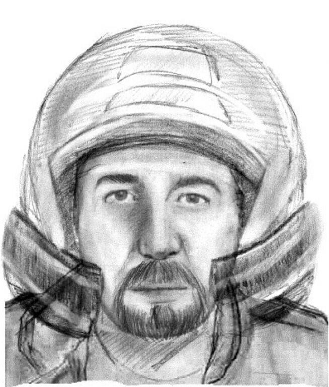 Identikit image of the motorcycle rider