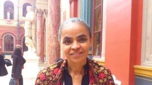 A ex-ministra Marina Silva participou de um debate nesta segunda-feira, 15 de abril de 2013, em Paris.