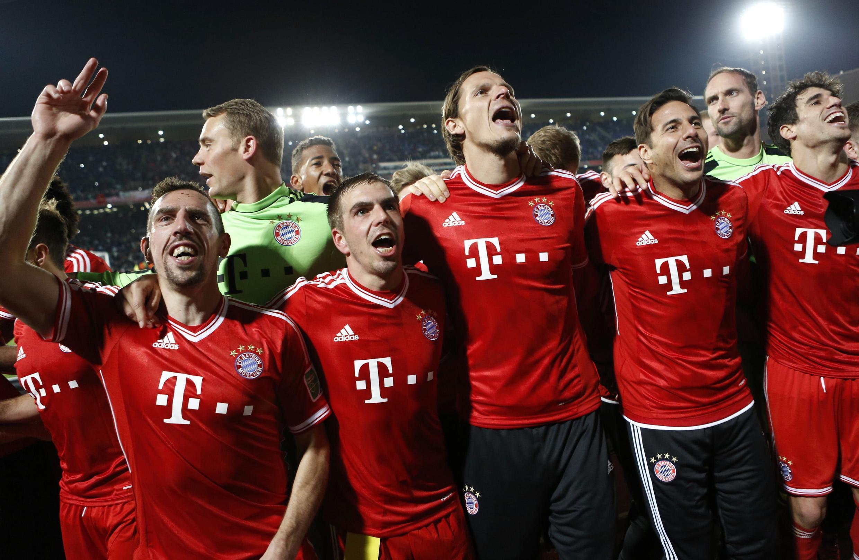 La joie des joueurs du Bayern Munich, le 21 décembre 2013.